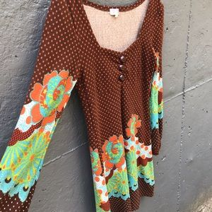Rare! EUC! Flower Child Boho Mini Dress 🤟🌻